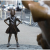 Fearless Girl sculpture continues to attract controversy on Wall street.2