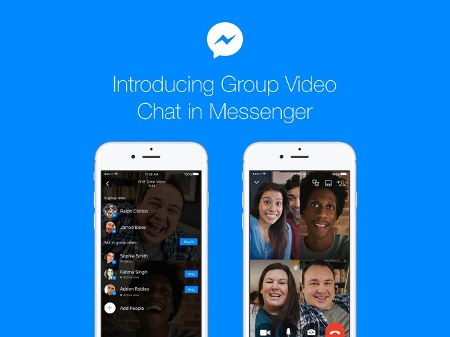 Facebook goes to Skype and Hangouts adding to Messenger group video calls