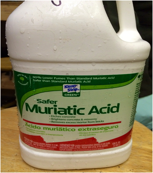 How to use muriatic acid to clean masonry